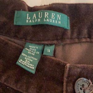 Lauren Ralph Lauren Pants & Jumpsuits - Brown velvet pants
